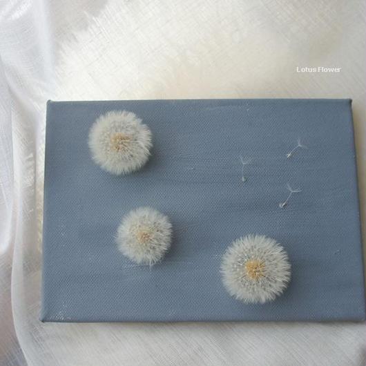 Oil Paint panel of fluff of dandelion