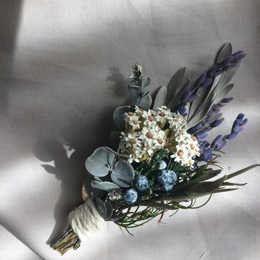 Lavender mini bouquet corsage