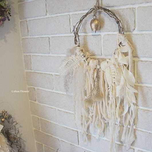 White weaving wreath
