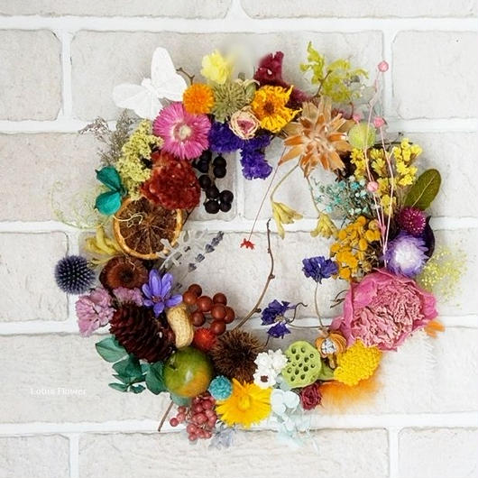 Colorful child wreath