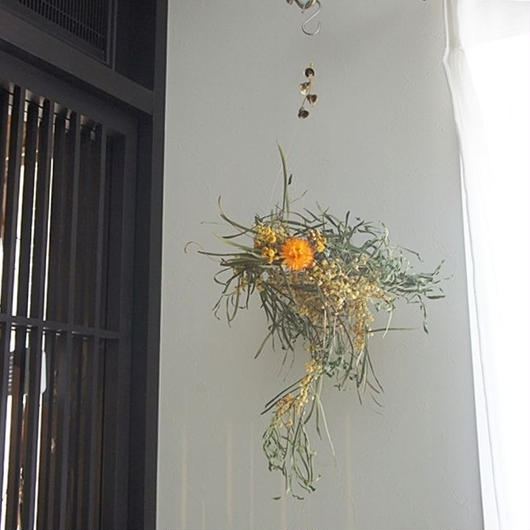 Mimosa wind-bell wreath A