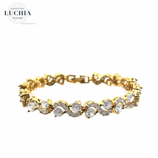 Handmade woven bracelet  type 88  gold