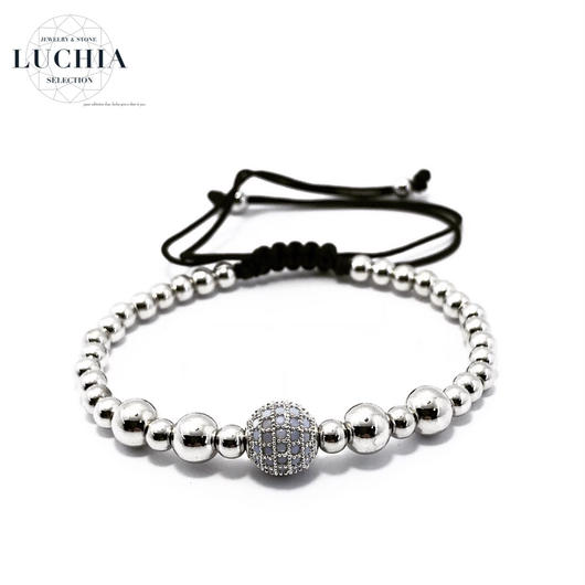 Handmade woven bracelet  type 16 silver