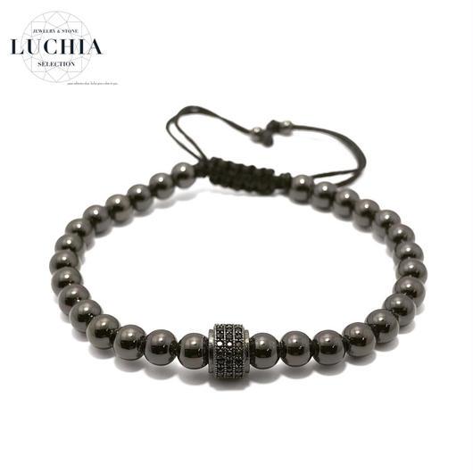 Handmade woven bracelet  type 81 black