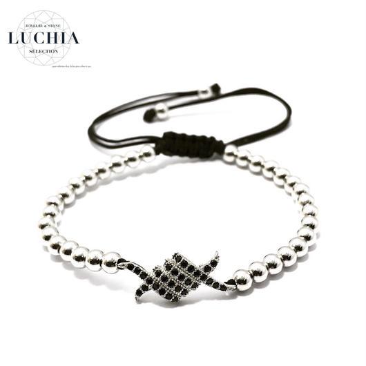Handmade woven bracelet  type 1a silver