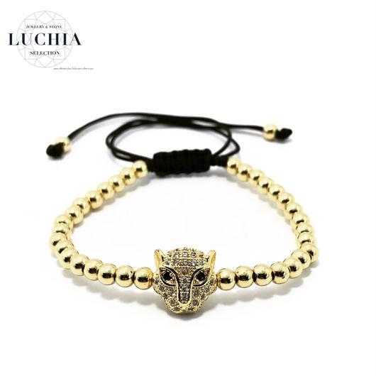 Handmade woven bracelet  type 14 gold