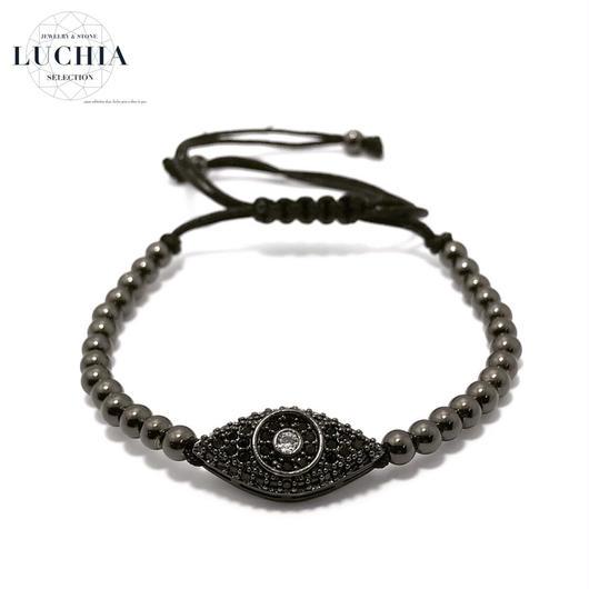 Handmade woven bracelet  type 2 black