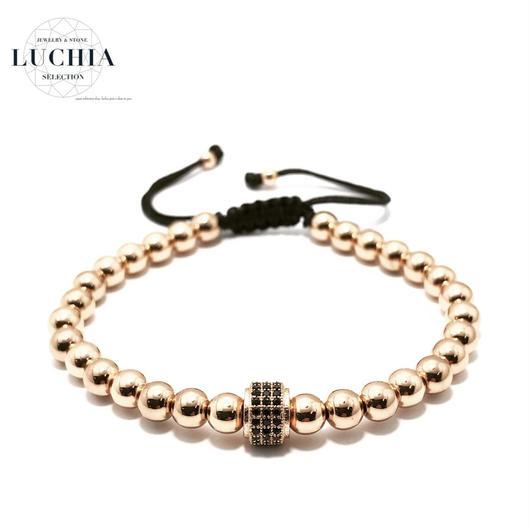 Handmade woven bracelet  type 81 rose gold