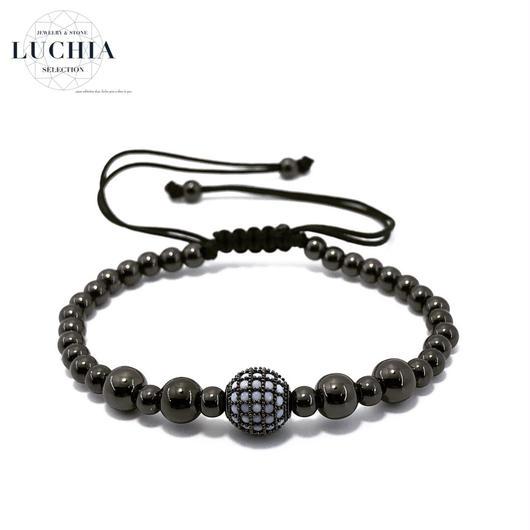 Handmade woven bracelet  type 16 black