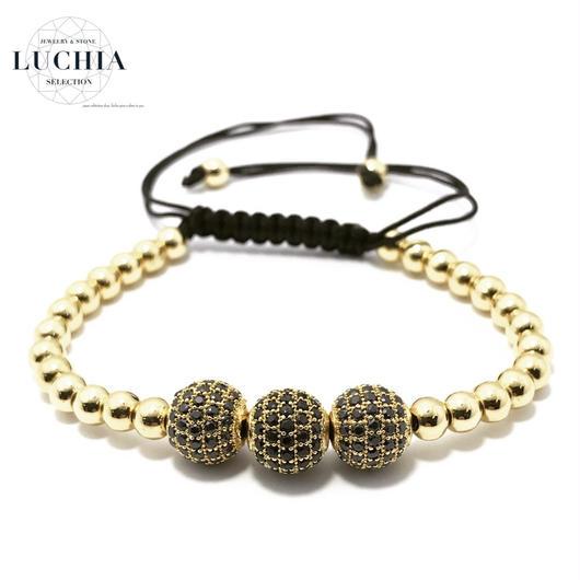 Handmade woven bracelet  type 5 gold