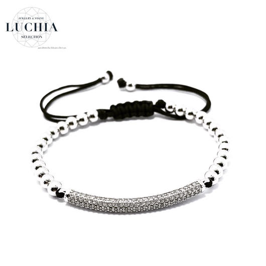 Handmade woven bracelet  type 3 silver
