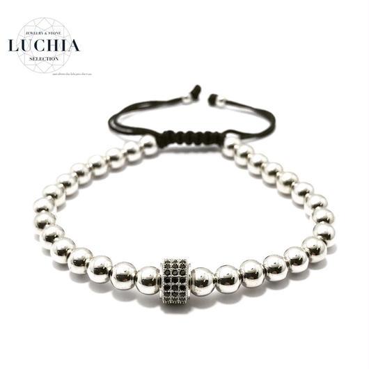 Handmade woven bracelet  type 81 silver