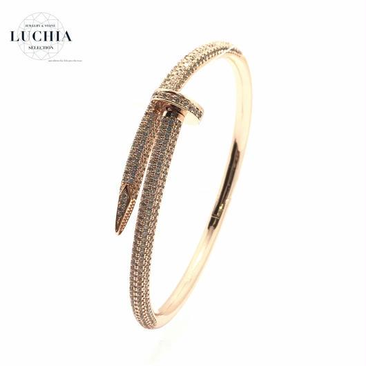 Handmade woven bracelet  type 53 rose gold