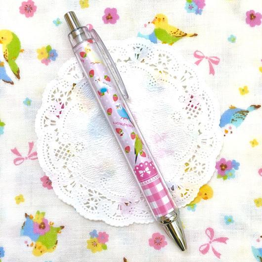 小鳥といちごのスイーツボールペン♡ピンク