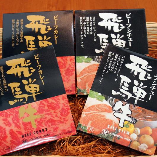 ルフトヒダレストラン定番 飛騨牛カレー・飛騨牛シチューセット