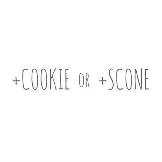 +cookie / +scone