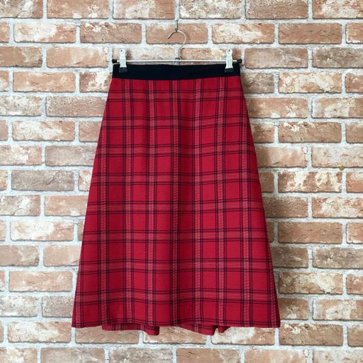 LYS -fantasia for your dress- チェック柄スカート [red]