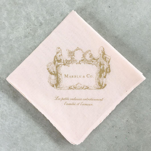 MARBLE & Co. カップルハンカチ [pink]