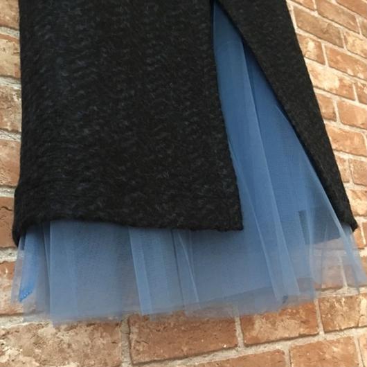 LYS -fantasia for your dress- イタリア製ウールハイウエストチュールスカート [black/blue]