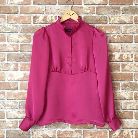 LYS -fantasia for your dress- フリルスタンドカラーブラウス [pink]