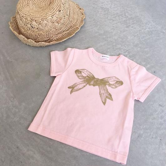 MARBLE & Co. Baby リボンTシャツ [pink]