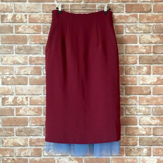 LYS -fantasia for your dress- ハイウエストチュールスカート [bordeaux]