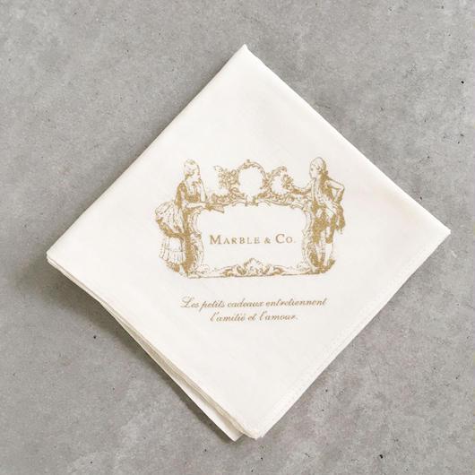 MARBLE & Co. カップルハンカチ [cream]