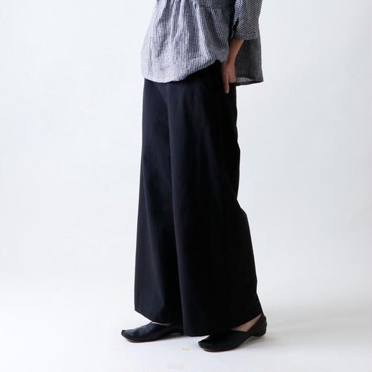 【受注生産 / 約3か月後のお届け】MAGALI セーラー・ワイド・パンツ/ブラック