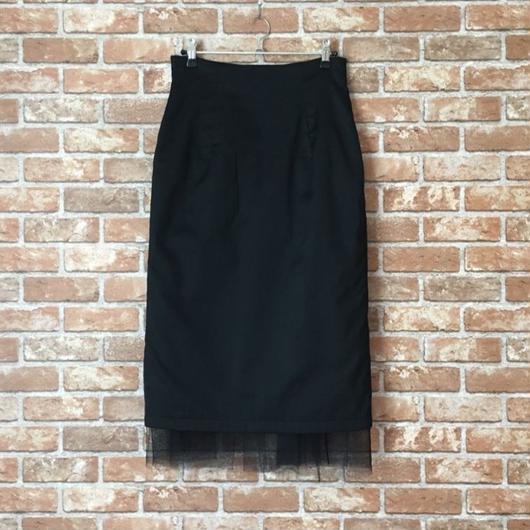 【受注生産/オーダー承りから約1ヶ月後のお届け】LYS -fantasia for your dress- ハイウエストチュールスカート [black]