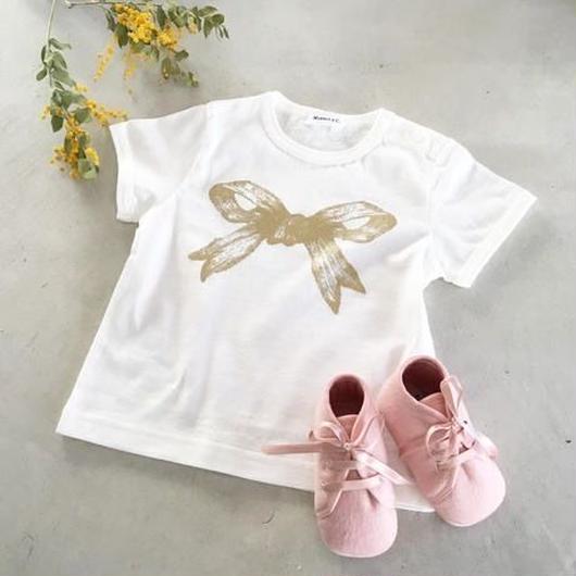 MARBLE & Co. Baby リボンTシャツ [white]
