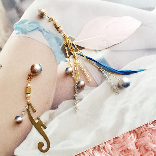 """♡promotion price♡ LYS -fantasia for your dress- """"Fantasia""""フェザーピアス/イヤリング"""