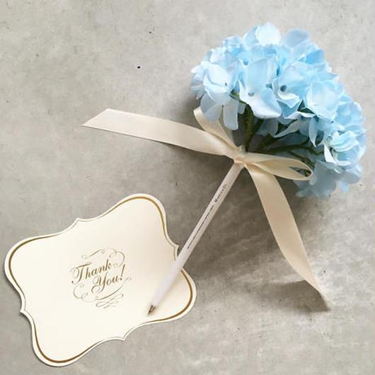 MARBLE & Co. お花のボールペン あじさいのブーケ  [blue]