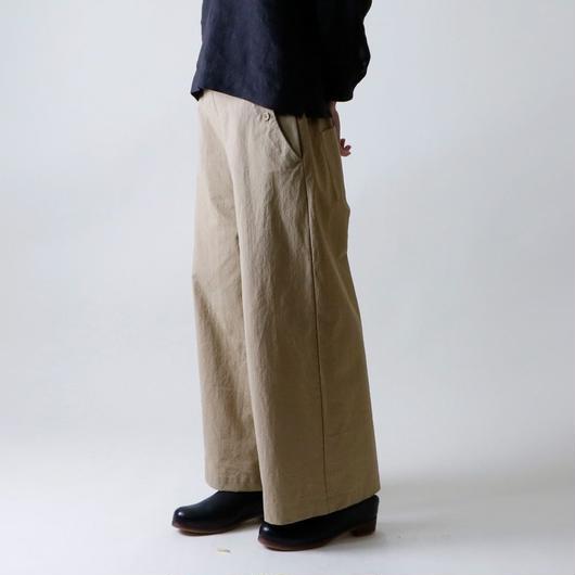 【受注生産 / 約3か月後のお届け】MAGALI セーラー・ワイド・パンツ/ベージュ