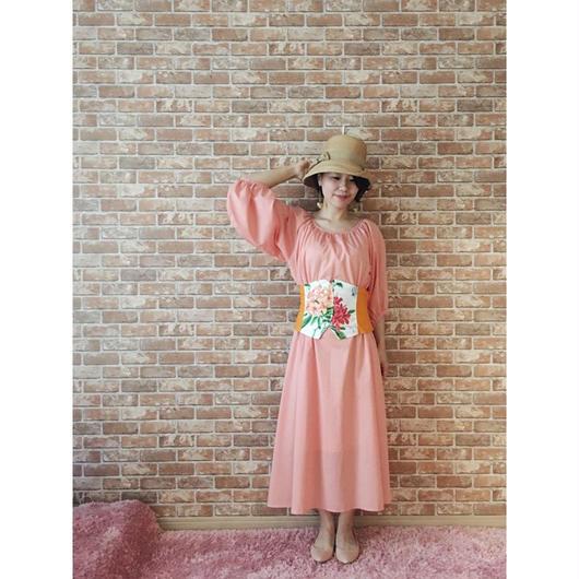 LYS -fantasia for your dress- アメリカ製ヴィンテージ・フラワーファブリック使用 ビスチェ [orange type 1 ]