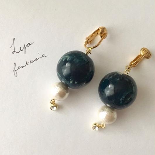 "LYS-fantasia for your dress- ""Bon Bon""ピアス/イヤリング [navy]"