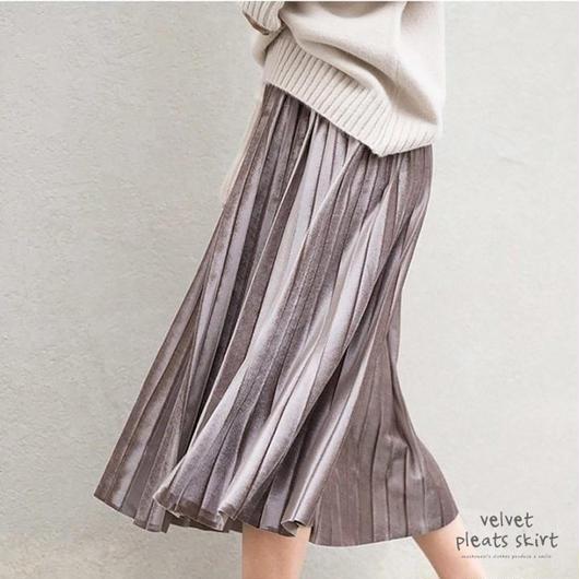 ベルベットプリーツスカート