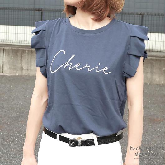 タックロゴプリントTシャツ