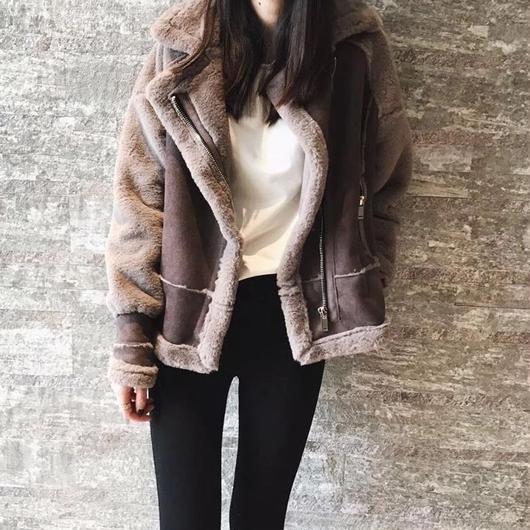 chocolate Mouton Jacket