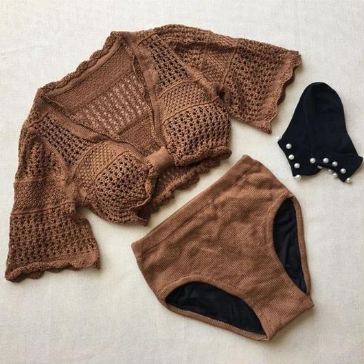 Chocolate Knit Bikini