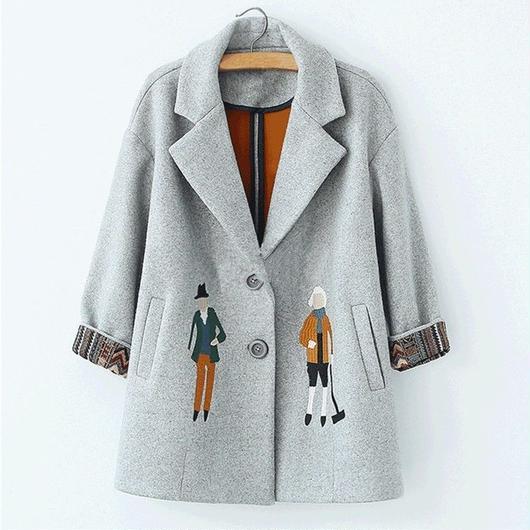 【Navy Ssize即納】Tailored jacket coat