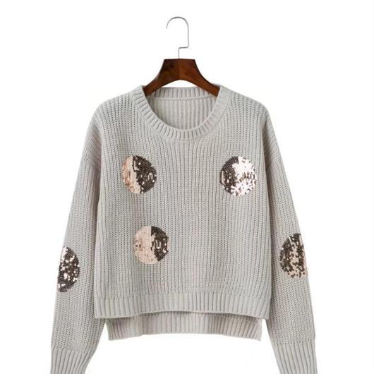 Spangle dot knit