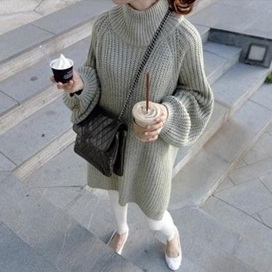【早い者勝ち】Vol.sleeve Big knit