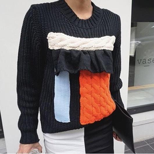 Mode frill Knit