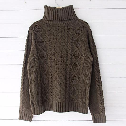 cocoa brown turtle knit