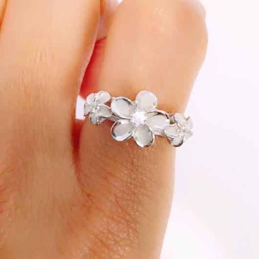 Plumeria ring(silver925)
