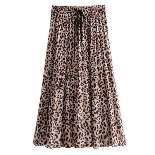 豹柄ロングスカート