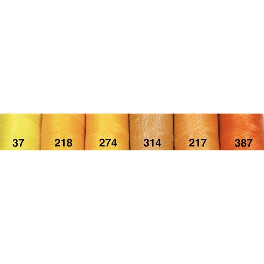 <108色・黄橙系>Linhasita社製ワックスコード0.75mm(ロウビキ紐・蝋引き紐 ・waxcord)