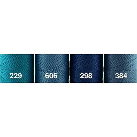 <118色・青系>Linhasita社製ワックスコード0.75mm(ロウビキ紐・蝋引き紐 ・waxcord)
