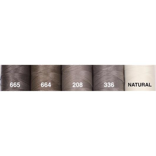 <108色・グレー系>Linhasita社製ワックスコード0.75mm(ロウビキ紐・蝋引き紐 ・waxcord)