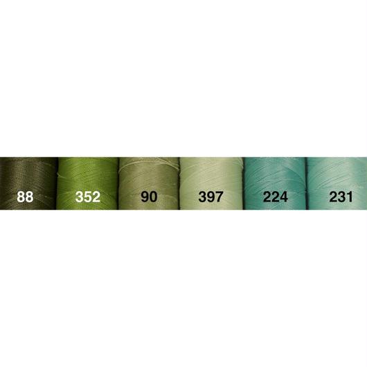 <118色・緑系>Linhasita社製ワックスコード0.75mm(ロウビキ紐・蝋引き紐 ・waxcord)